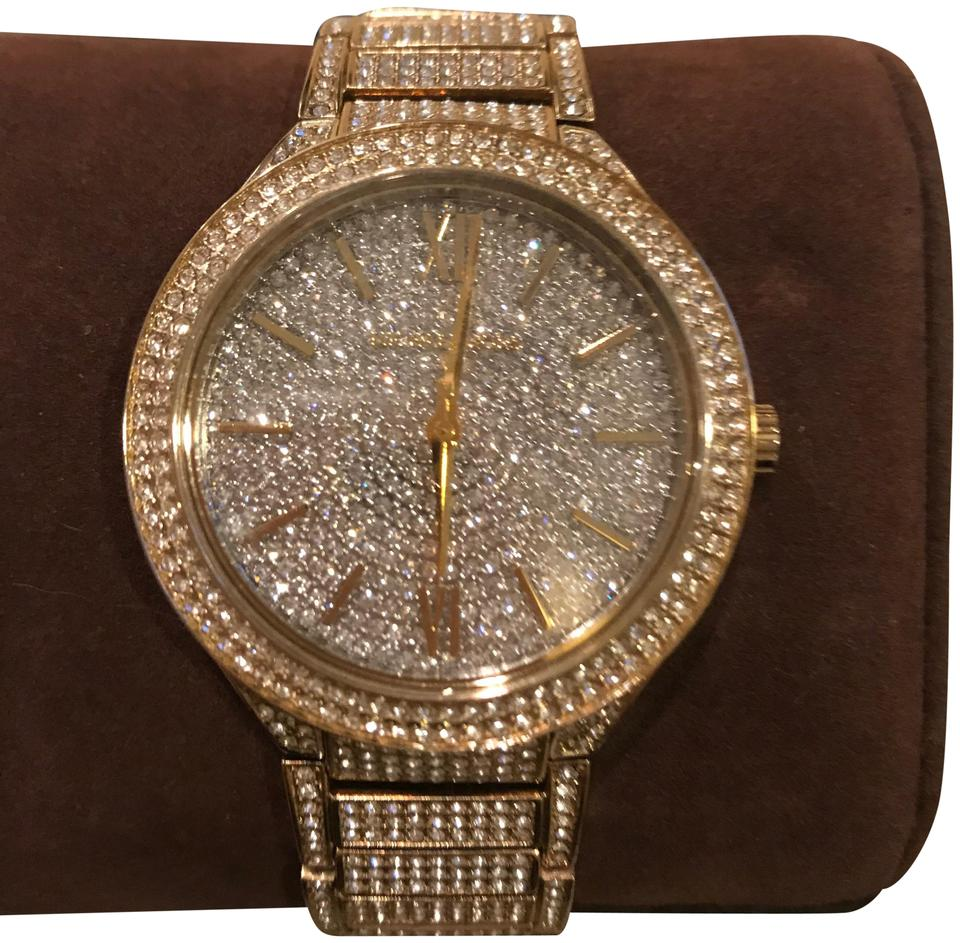 40a9a678fb Michael Kors Swarofski Crystals and Gold Covered With Watch 19% off retail