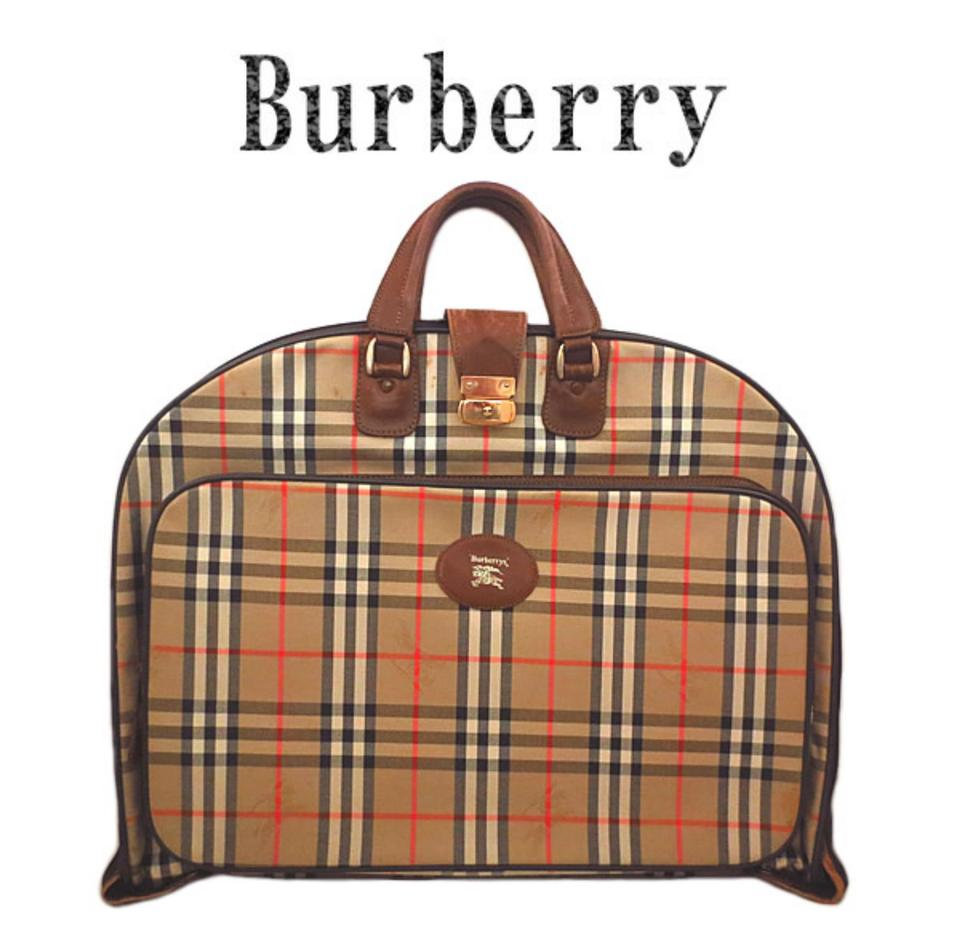 6064fadd12ac Burberry Garment Cover Suit Carrier Suit Cover Garment Porte Habit Nova  Check Travel Bag Image 0 ...