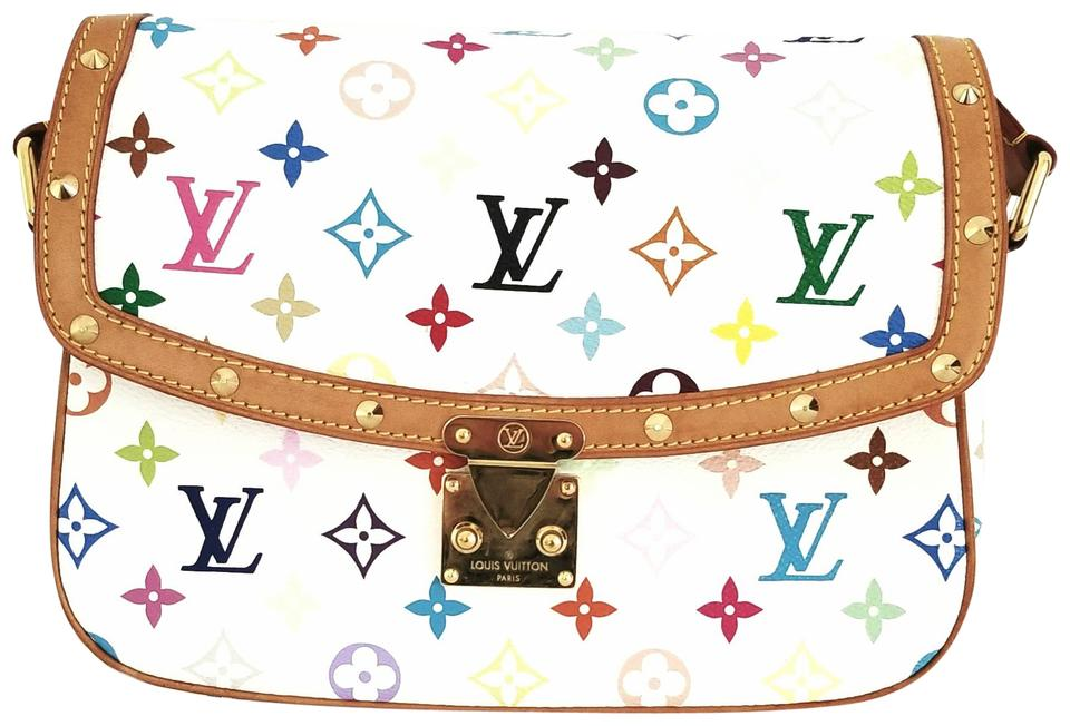 Louis Vuitton Sologne White Monogram Multi Color Canvas Cross Body Bag 47 Off Retail