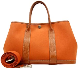 Hermès Garden Party Tpm 2way Kelly With Strap Tote in Orange
