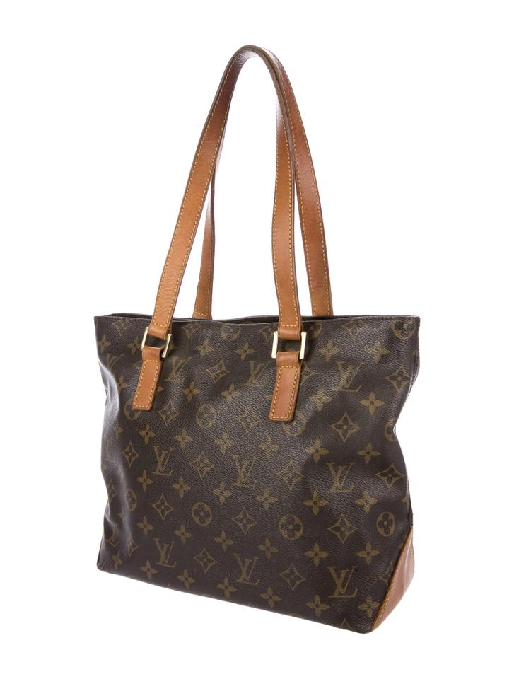 3ee12ae430 Louis Vuitton Cabas Piano Monogram 226910 Brown Coated Canvas Tote 50% off  retail
