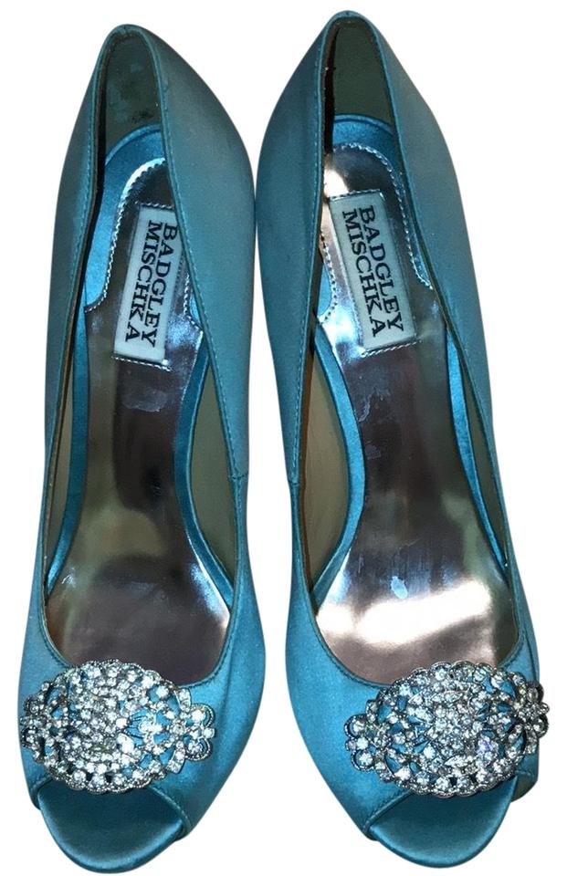 Badgley Mischka Bride Greatful Light Turquoise Greatful Bride Formal Shoes 6695b5