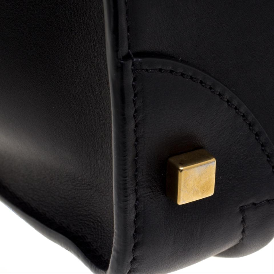 d7c073ce06cd9 Céline Luggage Black White Tote Black Leather and Leather Shoulder Bag -  Tradesy