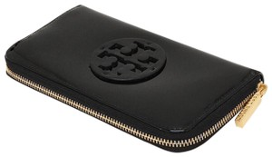 Tory Burch Tory Burch Stacked Continental Patent Leather Zip Wallet