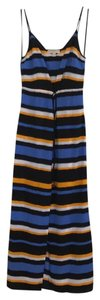 striped blue, yellow, navy Maxi Dress by MICHAEL Michael Kors