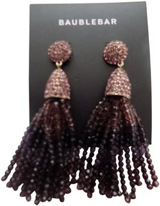 BaubleBar Gem Crystal Tassel Earrings
