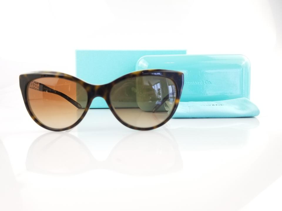 a0cc9517caa Tiffany   Co. Havana Blue Cat Eye Sunglasses - Tradesy