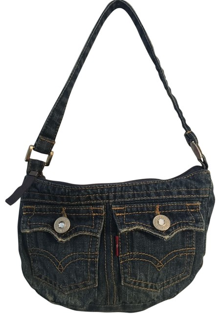 Item - Two Pocket Pouch Blue Denim Baguette