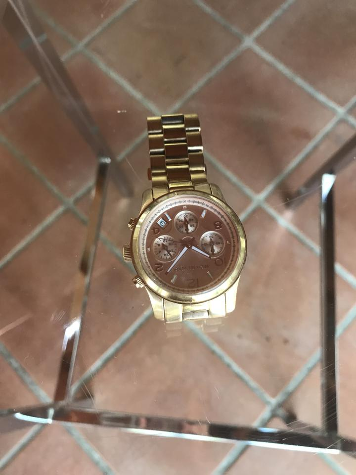 07b7f8e8d703 Michael Kors Rose Gold Three Eye Multifunction Vx3j Watch - Tradesy