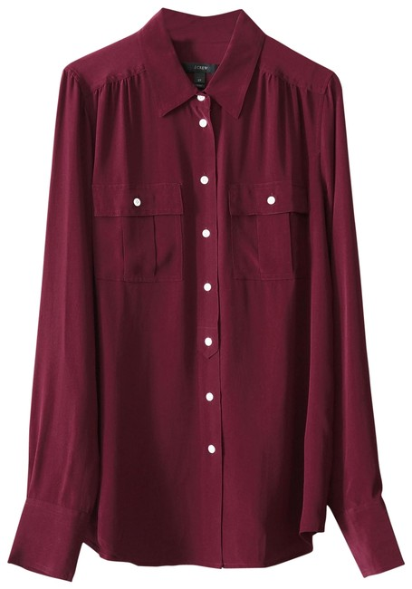 Preload https://img-static.tradesy.com/item/23135571/jcrew-wine-tall-blythe-in-silk-blouse-size-2-xs-0-1-650-650.jpg