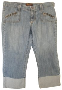 Lee Medim Wash One True Capri/Cropped Denim-Medium Wash