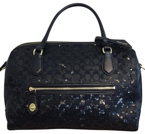 Coach Stunning Sequin Sparkle One Of A Kind Satchel in Black