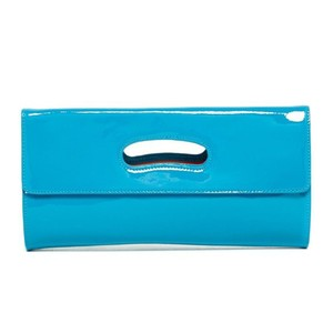 Hobo International Katrina Patent Leather POOL BLUE Clutch