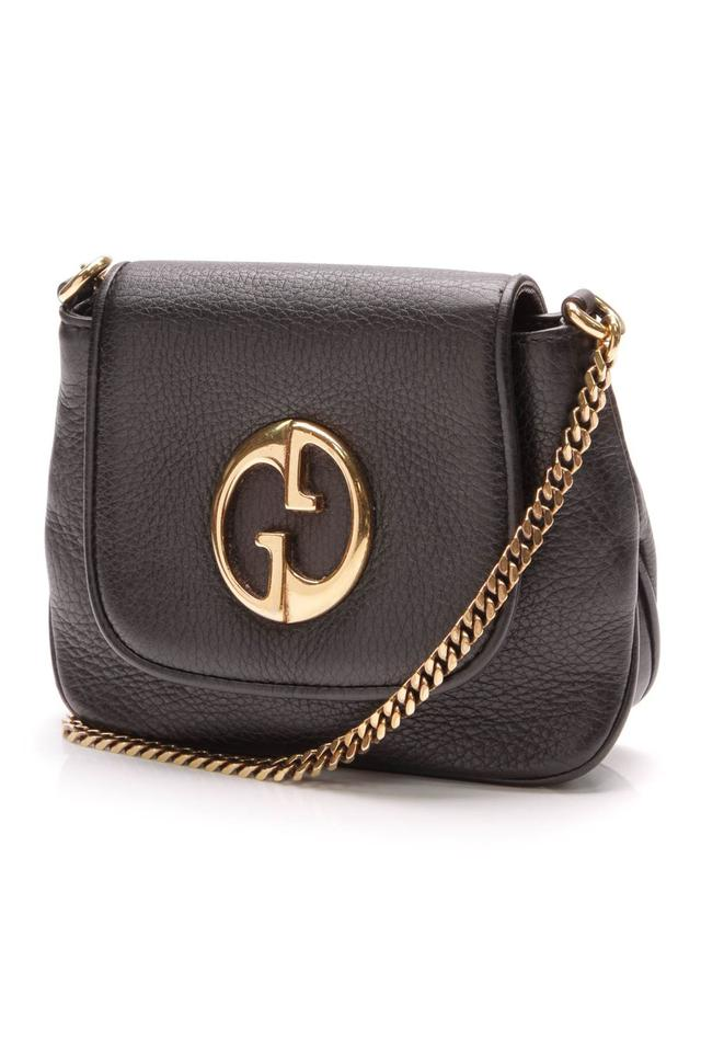 080505f998a Gucci 1973 Chain Small - Black Leather Cross Body Bag - Tradesy