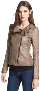 Soia & Kyo Taupe/Brown Leather Jacket