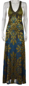 Multi-Color Maxi Dress by Custo Barcelona Maxi Floral Strapless Crisscross Strap