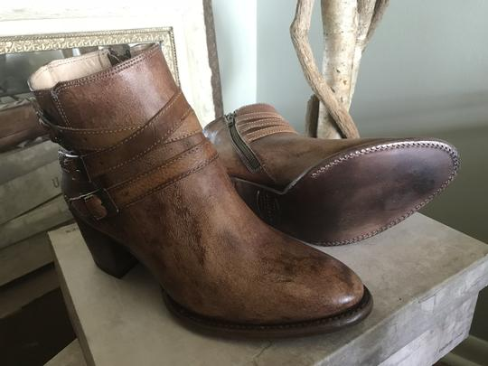 Bed|Stü Leather Ankle Side Zip Tan Rustic Boots Image 2
