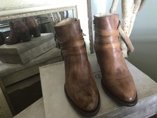 Bed|Stü Leather Ankle Side Zip Tan Rustic Boots Image 3