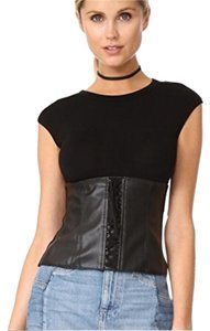 Bailey 44 Going Sexy Corset Leather Top Black