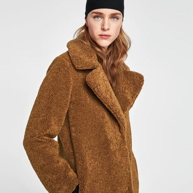 3b0a7eae teddy coat zara - 28 images - zara camel oversized teddy coat size 0 ...