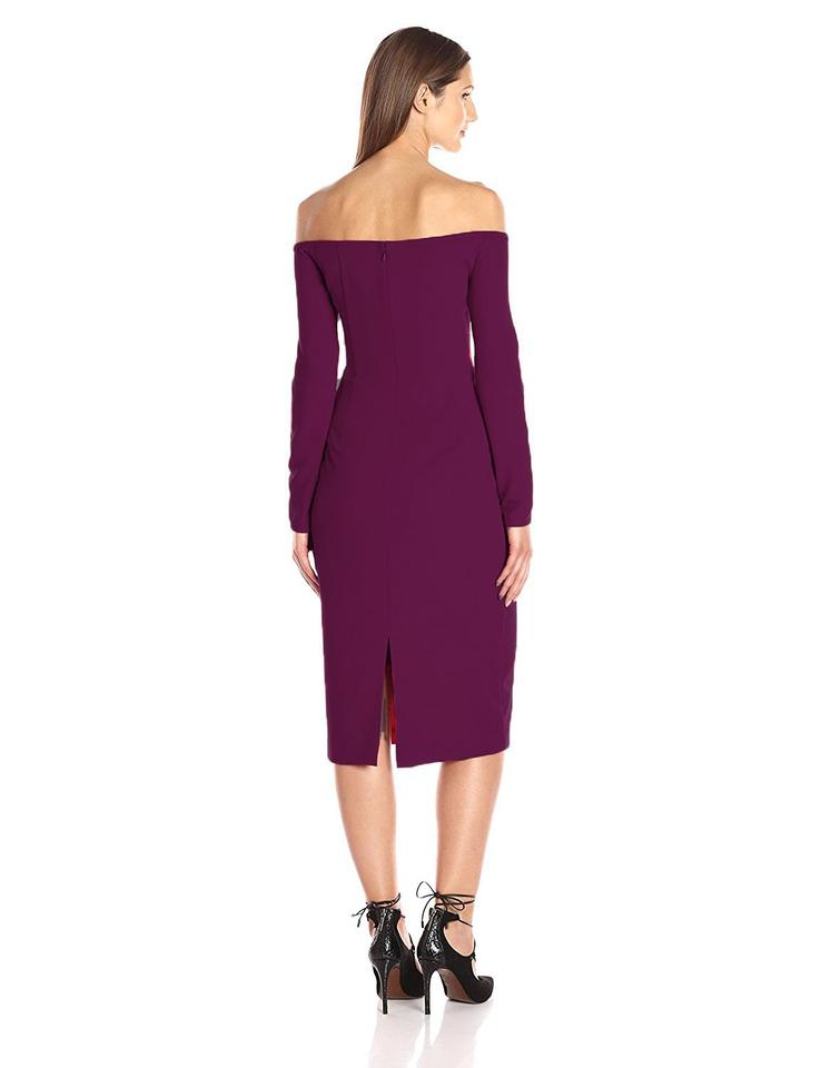 Black Halo Purple Women\'s Vita Sheath Mid-length Cocktail Dress Size ...