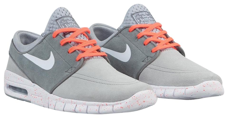 63afd7e6ceeb88 Nike Grey Orange Sb Stefan Janoski Max L Men s Skateboarding 685299-016  Sneakers