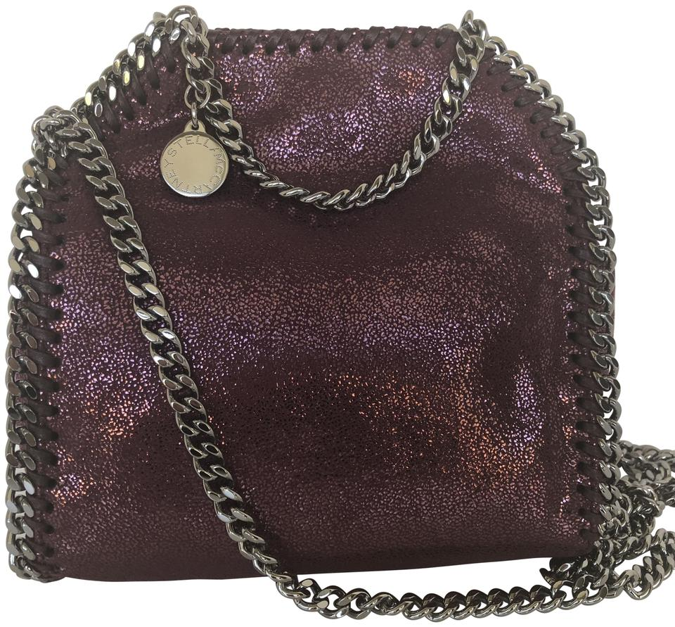 16179656bc Stella McCartney Tiny Falabella  Indian Red Faux Leather Cross Body ...