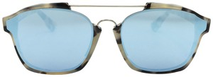 Dior Abstract Square Light Blue Mirror Sunglasses A4EA4