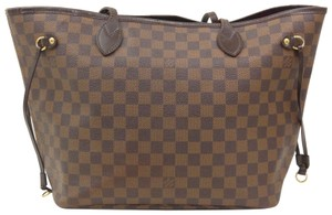 Louis Vuitton Mm Neverfull Tote in Damier Ebene