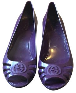Gucci Grape purple Wedges