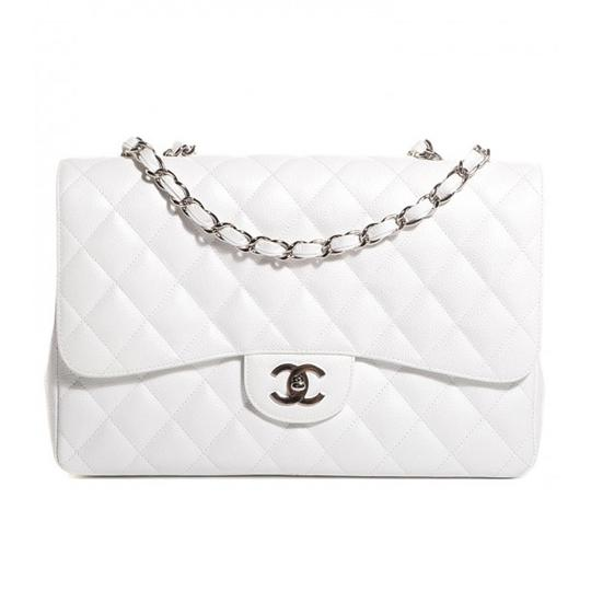 Preload https://item1.tradesy.com/images/chanel-rare-classic-single-flap-jumbo-white-caviar-leather-shoulder-bag-23137100-0-0.jpg?width=440&height=440