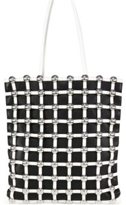 Alexander Wang Studded Shopper Tote in Black and White