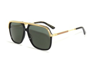 3a947859c45 Gucci GUCCI GG0200S 001 BLACK GOLD GREEN Sunglasses NEW! - item med img