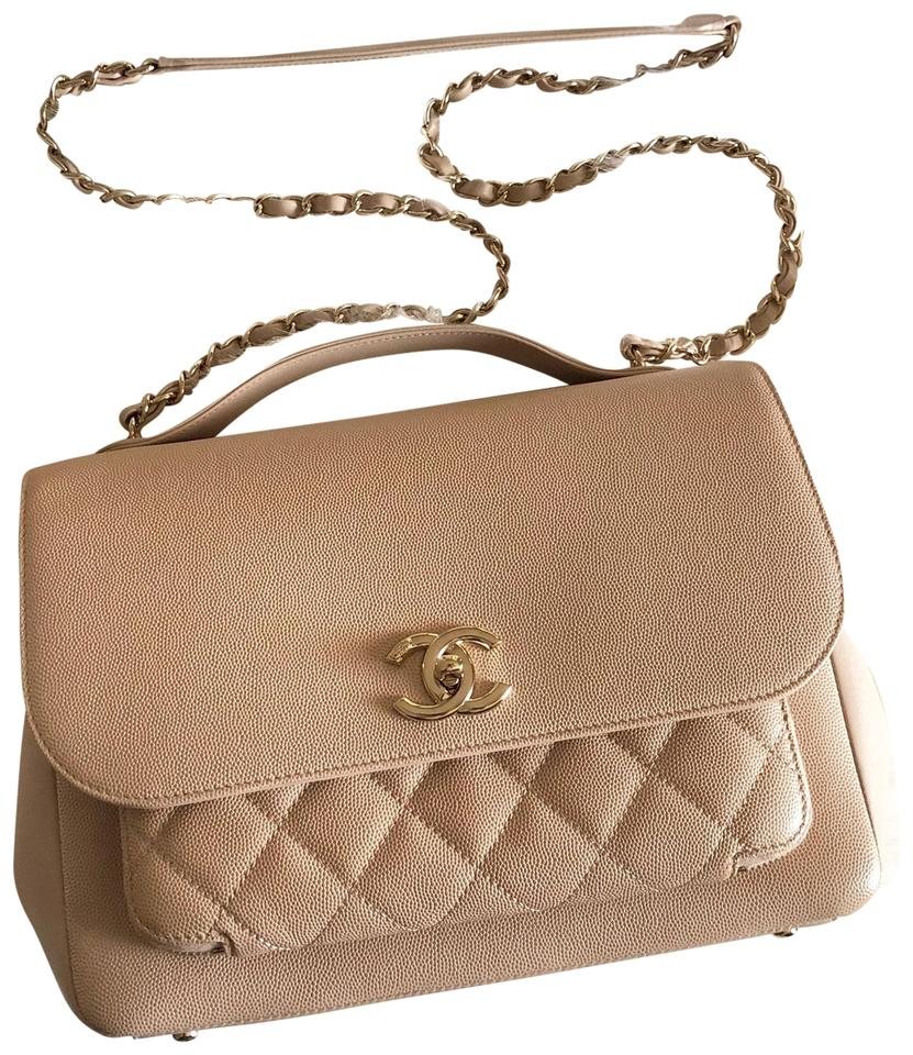 ef0d419247b5 Chanel Large Business Affinity Beige Caviar Leather Cross Body Bag ...