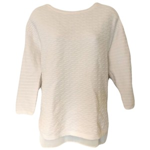 Trouvé Layered Textured Three Quarter Sleeve Knit Sweater