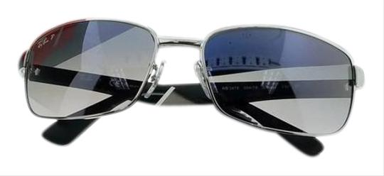 1347504b281 Ray-Ban RB3478-004-78 Men s Gunmetal Frame Blue Lens Polarized Sunglasses  Image ...