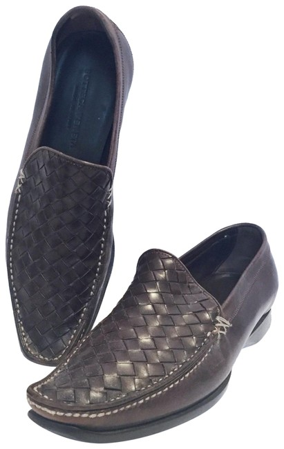 Item - Brown Leather Intrecciato Driving Loafers Flats Size EU 35.5 (Approx. US 5.5) Narrow (Aa, N)