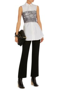 ADEAM Bow Sophisticated Top Black and White