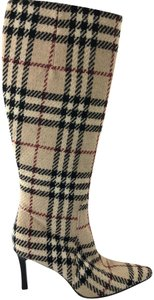 Burberry Beige/Black/Red Boots