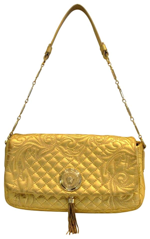 84c56f1d51 Versace Vanitas Medea Quilted Barocco Gold Leather Shoulder Bag ...