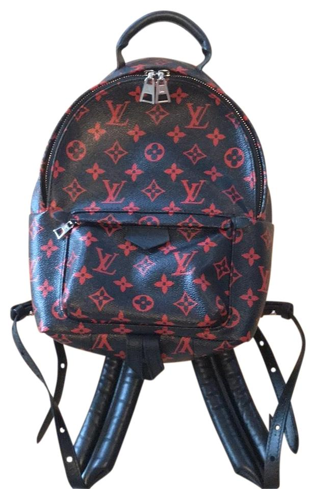b8c00219a631 Louis Vuitton Palm Springs Pm Monogram Black and Red Canvas Backpack ...