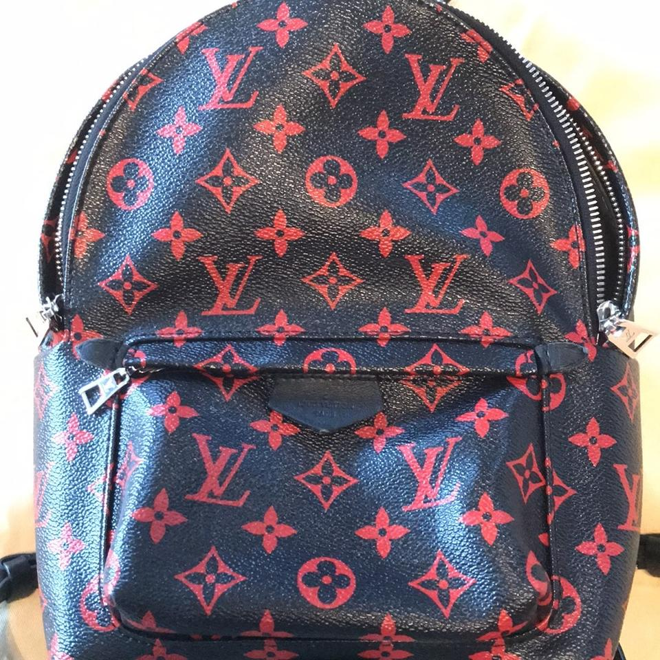 c856275440e Louis Vuitton Palm Springs Pm Monogram Black and Red Canvas Backpack