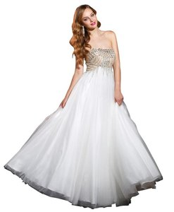 Terani Couture Strapless Beaded Prom Dress