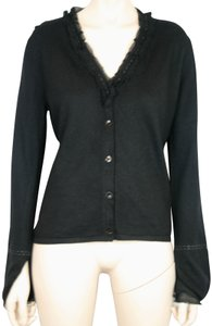 Carrie Forbes Sweater Wool Silk Mother Of Pearl Cardigan
