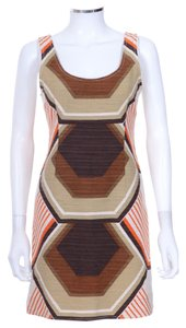 Miu Miu short dress brown, green, orange, white on Tradesy