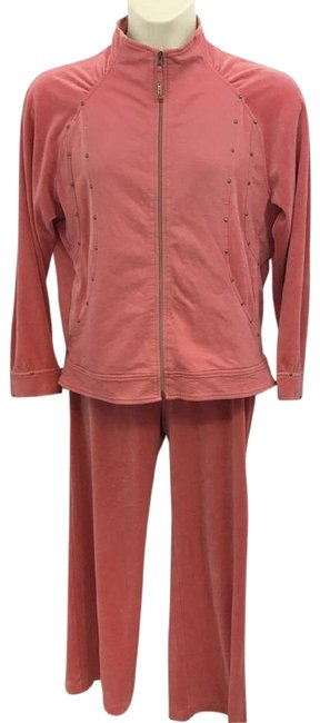 Preload https://img-static.tradesy.com/item/23138015/strawberry-studded-detail-velour-cotton-blend-pant-set-ml-activewear-jacket-size-14-l-0-1-650-650.jpg