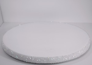 White Round Bling Cake Stand 15-inch Other