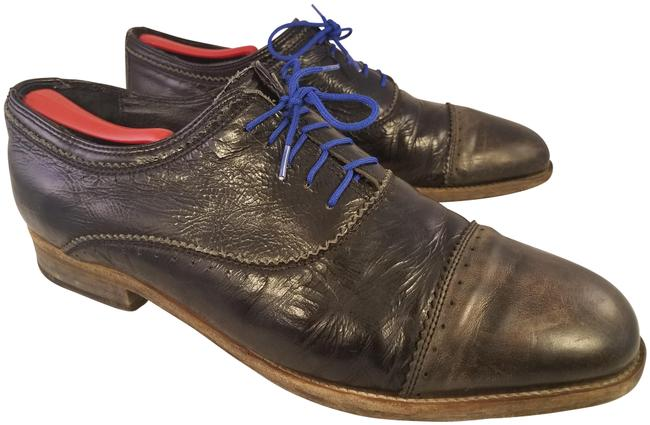 Item - Black and Brown Man Europe 46 / 12 Captoe Oxfords Patent Leather Formal Shoes Size EU 45 (Approx. US 15) Regular (M, B)