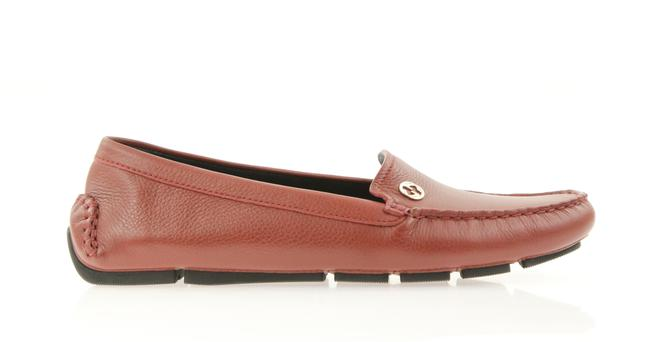 Item - Red Qardaha Driving Loafer Flats Size EU 37 (Approx. US 7) Regular (M, B)