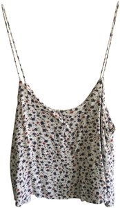 Brandy Melville Spring Summer Top White with Flowers